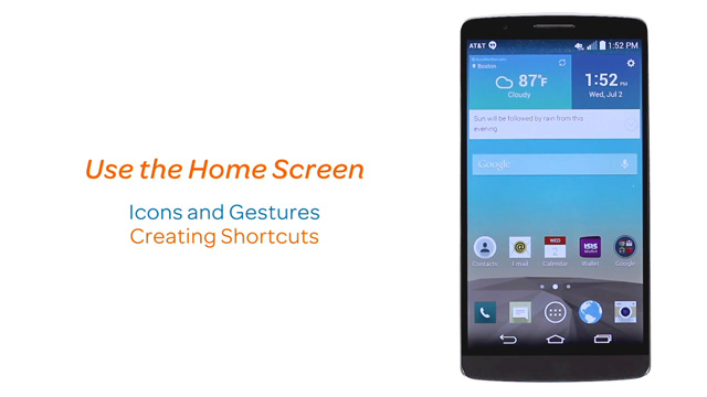 LG G3 (D850) - Learn and customize the home screen - AT&T