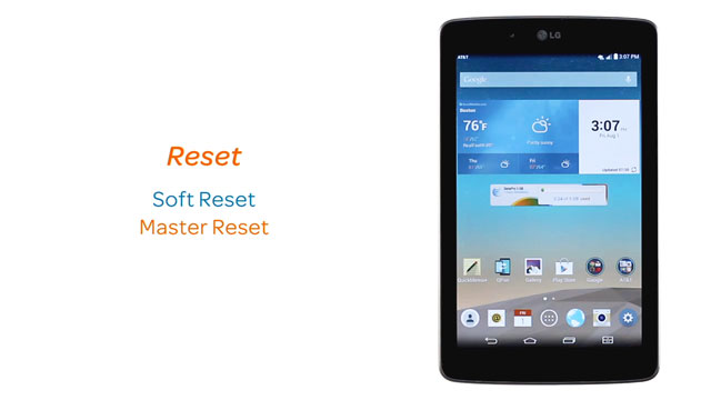 LG G Pad 7 0 LTE (V410) - Reset device - AT&T