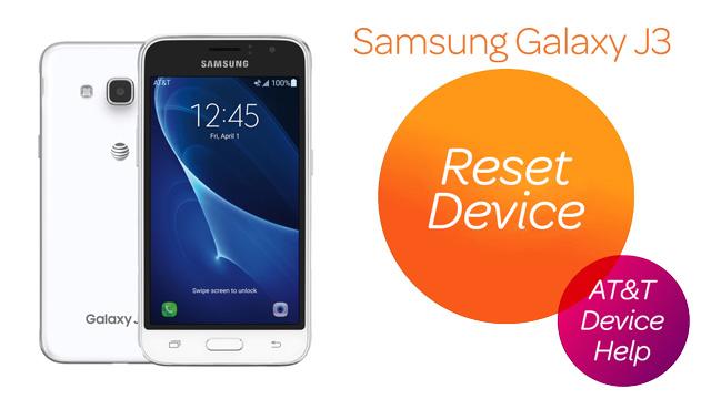 Samsung Galaxy J3 (2016) (J320A) - Reset Device - AT&T