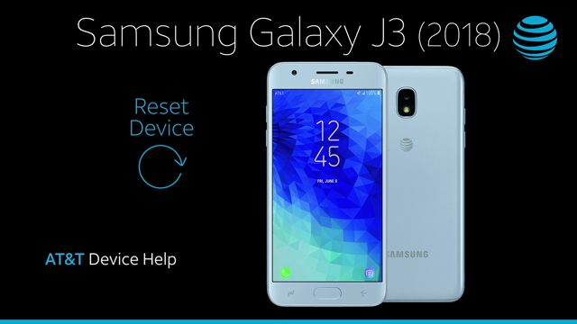 Samsung Galaxy J3 (2018) (J337A) - Reset Device - AT&T
