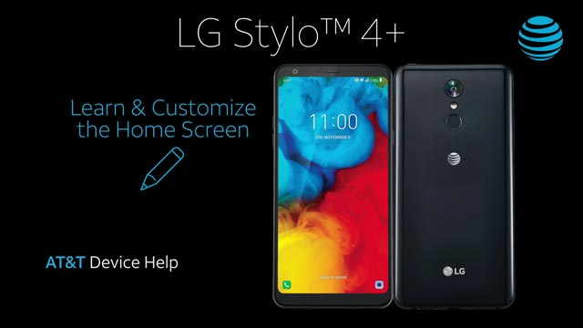 LG Stylo 4+ (LM-Q710WA) - Learn & Customize the Home Screen - AT&T