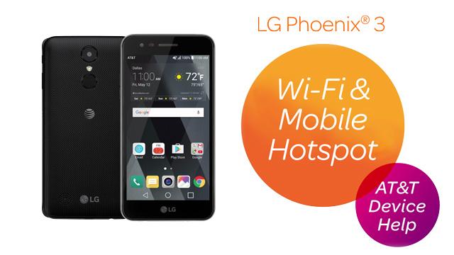 LG Phoenix 3 (M150) - Mobile Hotspot - AT&T