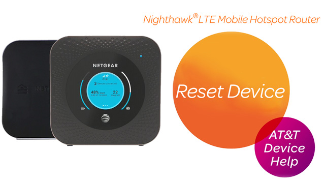 Netgear Nighthawk LTE Mobile Hotspot Router (MR1100) - Reset Device
