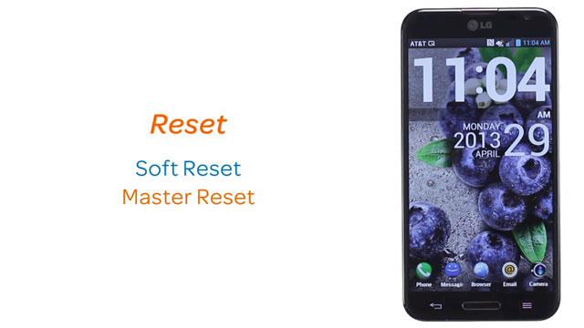 LG Optimus G Pro (E980) - Reset device - AT&T