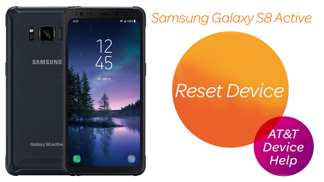 Samsung Galaxy S8 Active (G892A) - Reset Device - AT&T