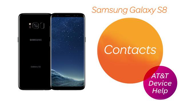 Samsung Galaxy S8 / S8+ (G955U/G950U) - Contacts - AT&T