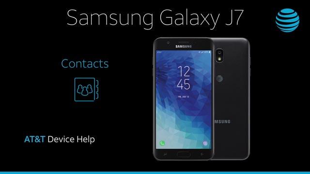 Samsung Galaxy J7 (2018) (J737A) - Contacts - AT&T