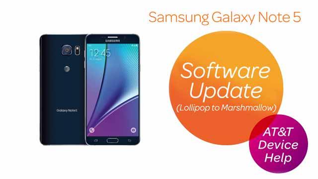 Samsung Galaxy Note 5 (N920A) - Software Version - AT&T