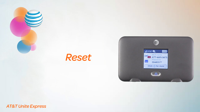 AT&T Unite Express (AC779S) - Reset device - AT&T