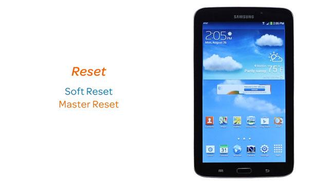 Samsung Galaxy Tab 3 7 0 (T217A) - Reset device - AT&T